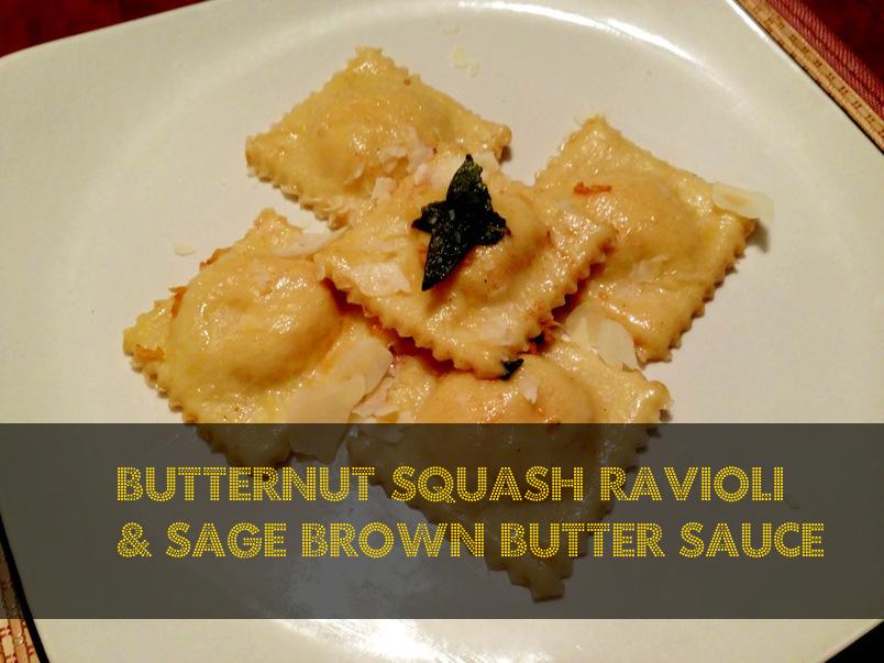 Butternut Squash Ravioli with Sage Brown Butter Sauce | Misonani ...
