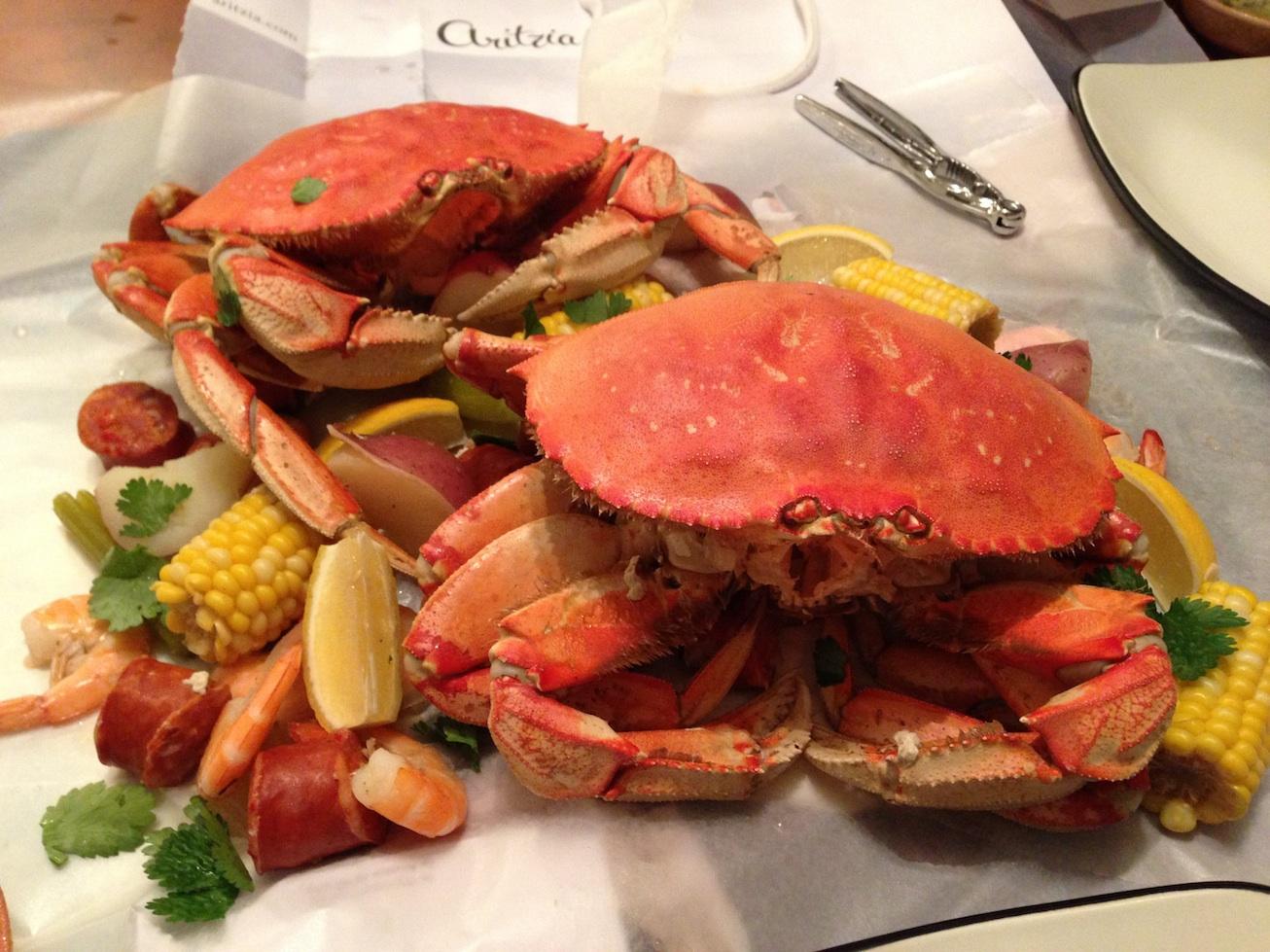 Stovetop Crab Boil (above). Stovetop Lobster Boil (below).